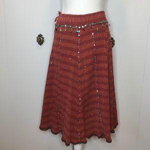 Vintage sparkle gypsy skirt